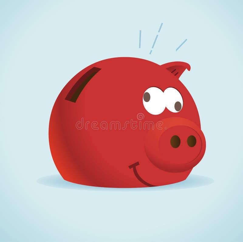 bank piggy red vektor illustrationer