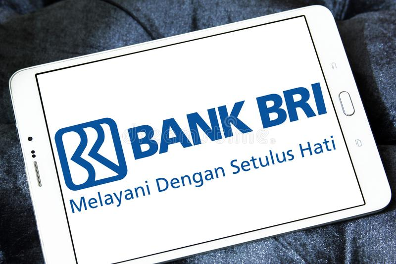 Bank Rakyat Indonesia , Bank BRI, logo. Logo of Bank Rakyat Indonesia , Bank BRI,on samsung tablet. Bank BRI is one of the largest banks in Indonesia . It royalty free stock photos