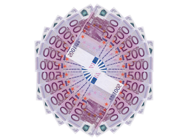bank repet för anmärkningen för pengar för fokus hundra för euroeuros fem royaltyfri illustrationer