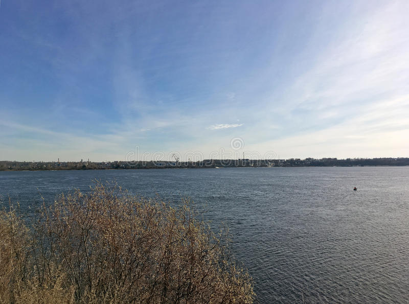 The Bank of the river Volga royalty free stock photos