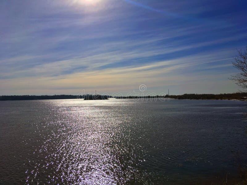 The Bank of the river Volga stock photos