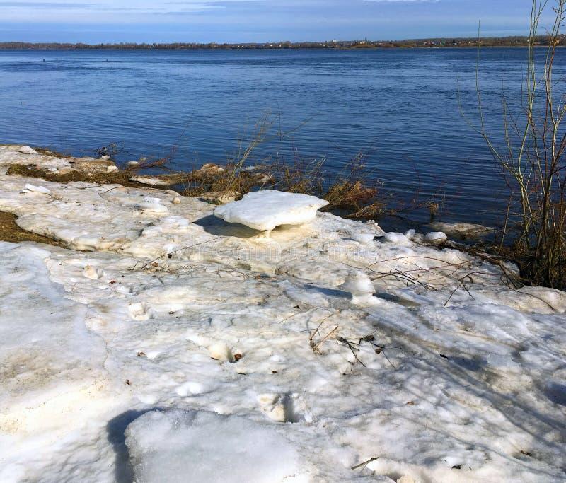 The Bank of the river Volga stock photo