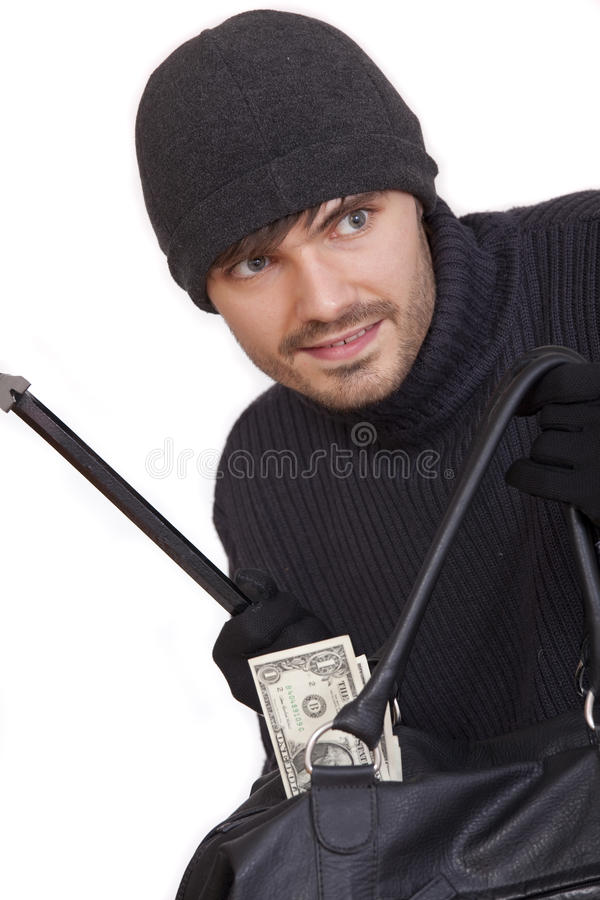 Download Bank robber with money bag stock photo. Image of face - 15671612