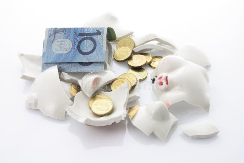 bank rozbity Świnka. zdjęcie royalty free