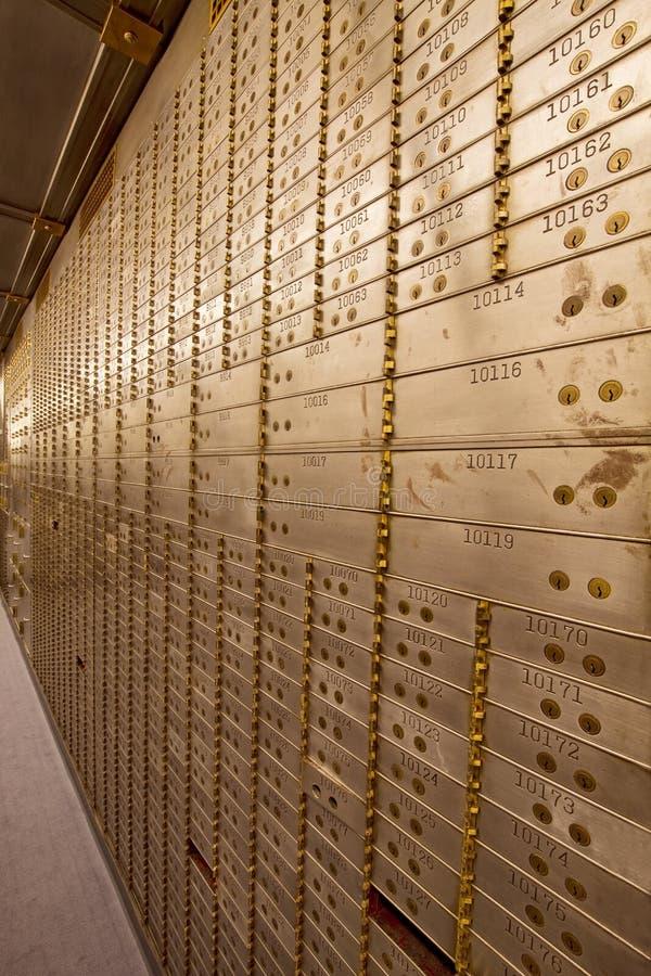 Bank Safe Deposit Boxes royalty free stock images
