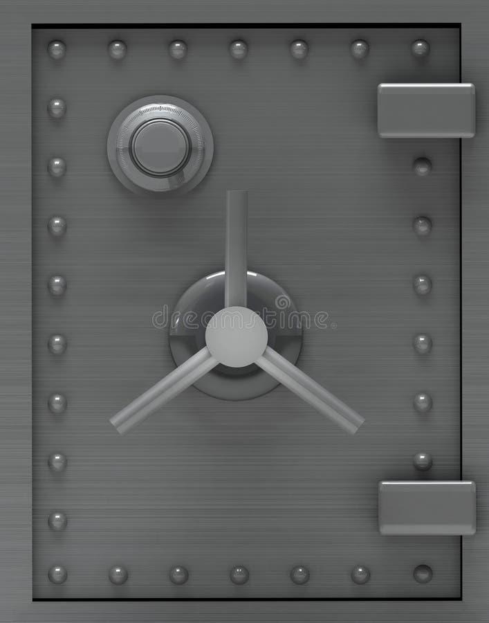 Bank safe door. royalty free illustration