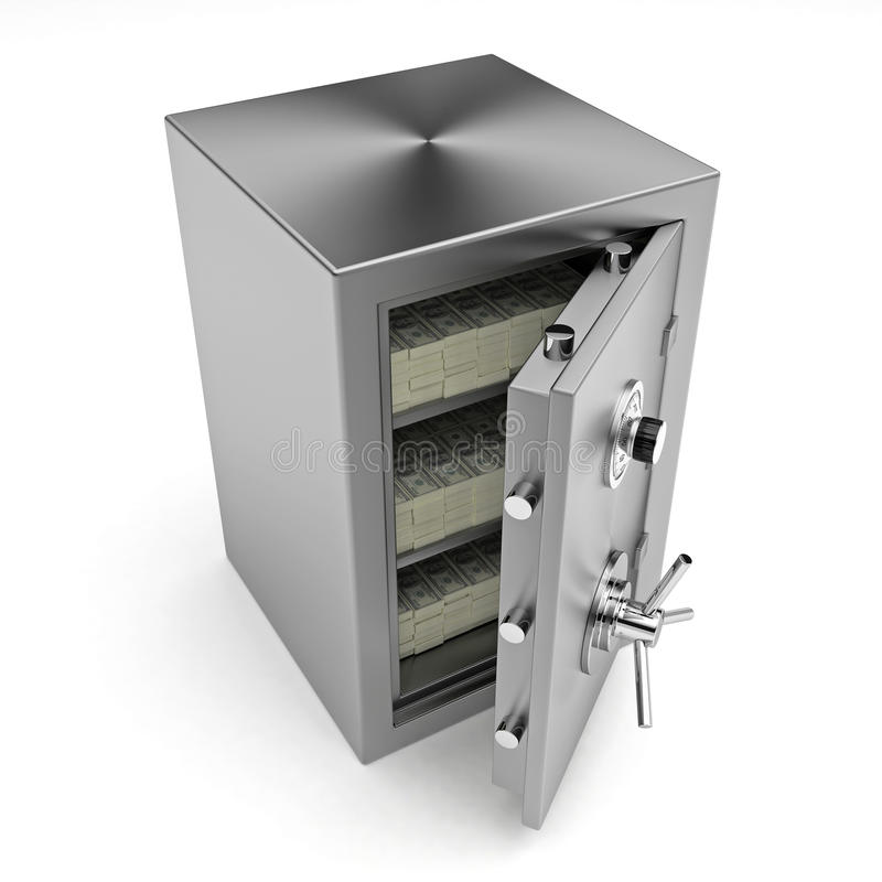 bank safe with money royalty free stock images image