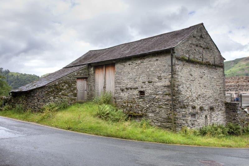 Bank-Scheune, Cumbria stockfotos