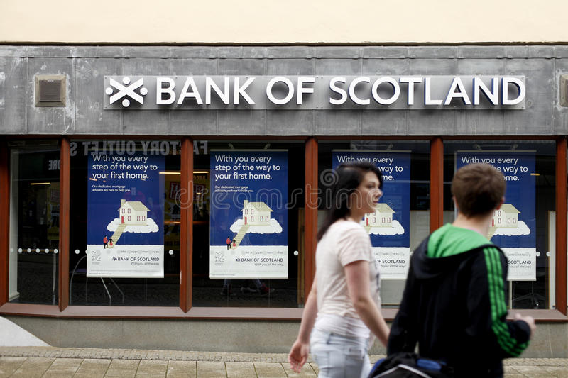 Bank of Scotland royalty free stock photography
