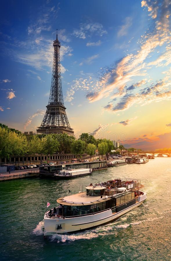 On bank of Seine stock photography