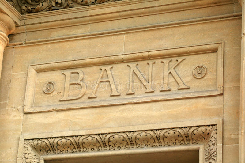 Download Bank sign stock image. Image of stone, credit, account - 14105975