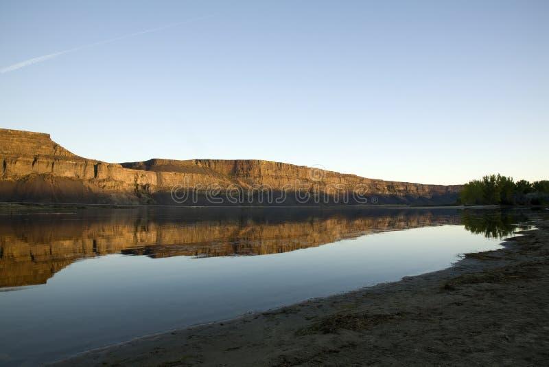 Bank sjö Washington royaltyfri fotografi