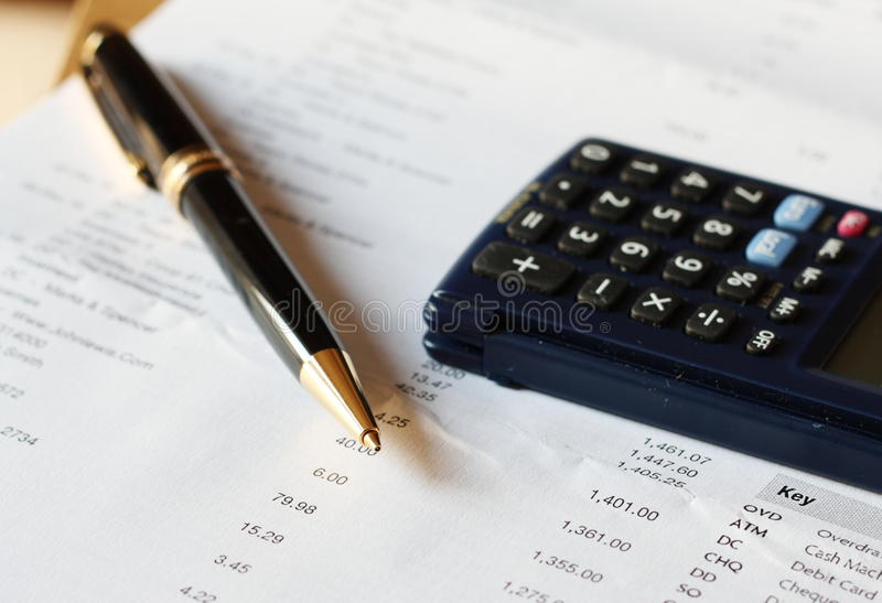 Bank statement royalty free stock photography