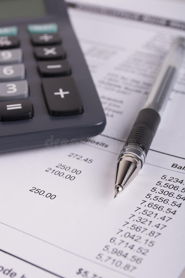 Bank Statement Analysis Stock Photo Image Of Detail