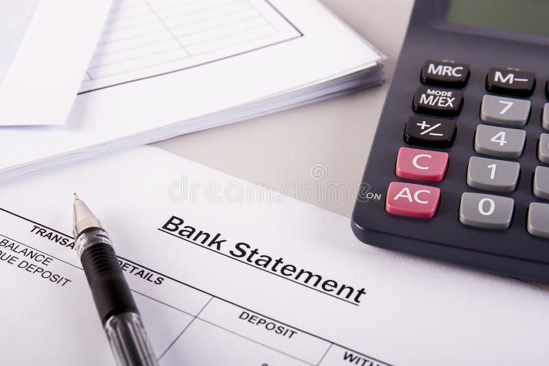 Bank Statement Analysis Stock Photo Image Of Company