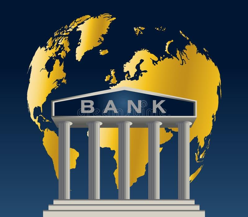 bank szeroki świat ilustracja wektor