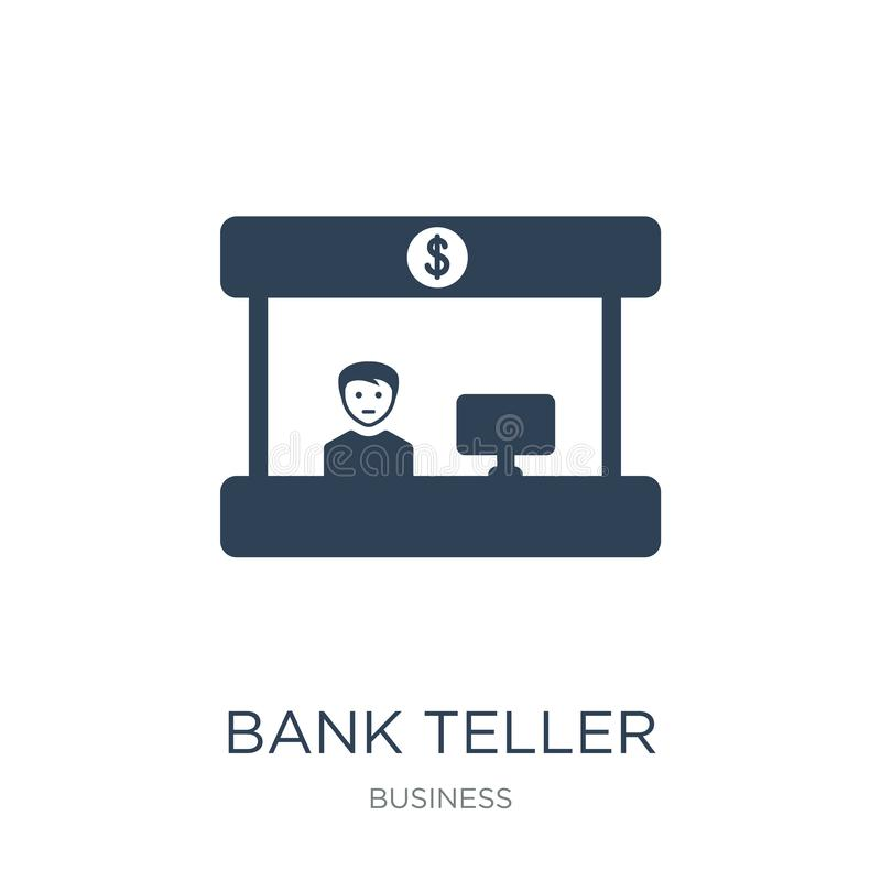 Bank teller icon in trendy design style. bank teller icon isolated on white background. bank teller vector icon simple and modern. Flat symbol for web site stock illustration