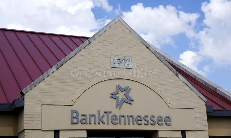 Bank Tennessee Sign. Bank Tennessee banking and financial center building stock images