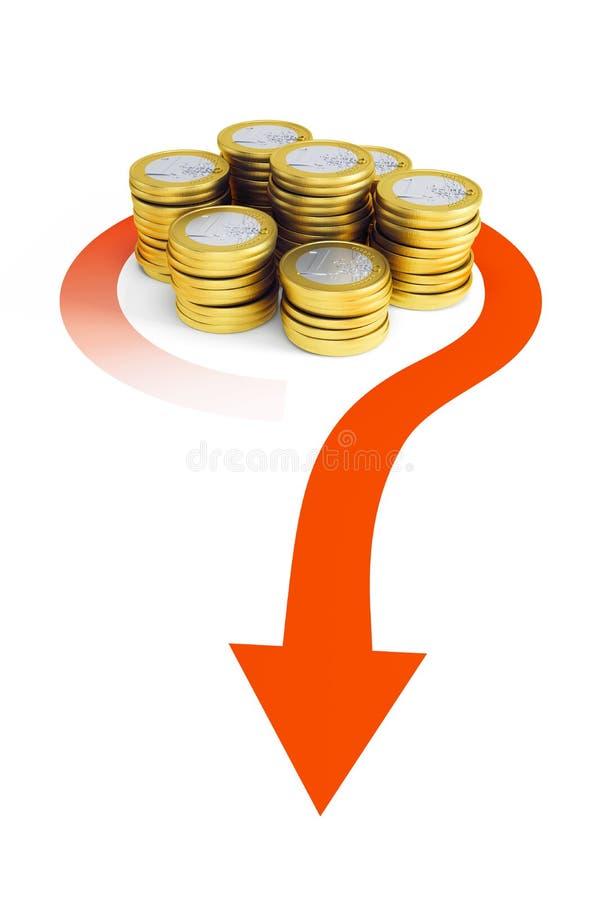 Bank transfer stock illustration