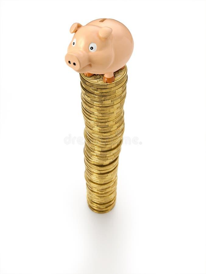 bank ukuwać nazwę pieniądze prosiątka stertę obrazy royalty free