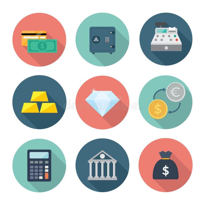 Bank-und Finanzwesen-Ikone lizenzfreie stockbilder
