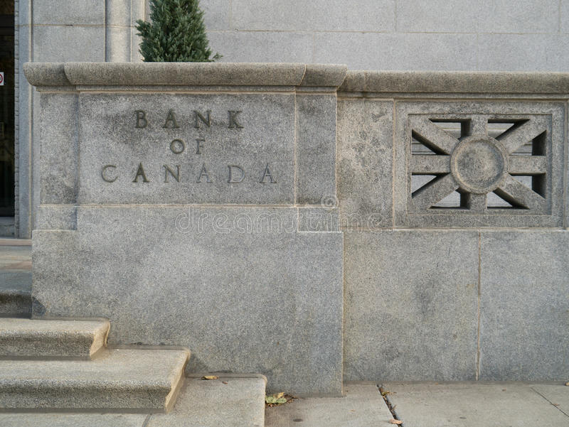 Bank van Canada stock afbeeldingen