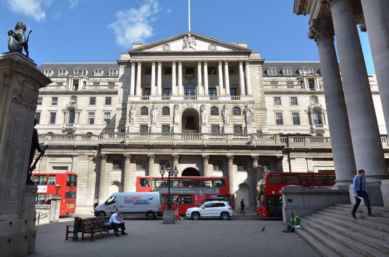 Bank van de Centrale Bankhoofdkwartier Engeland het UK van Engeland royalty-vrije stock afbeeldingen