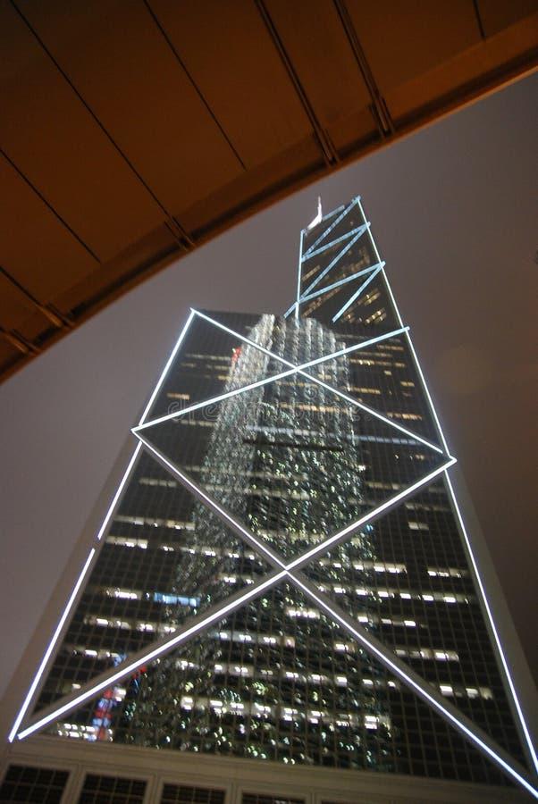 Bank van de Toren van China, Hong Kong stock foto's