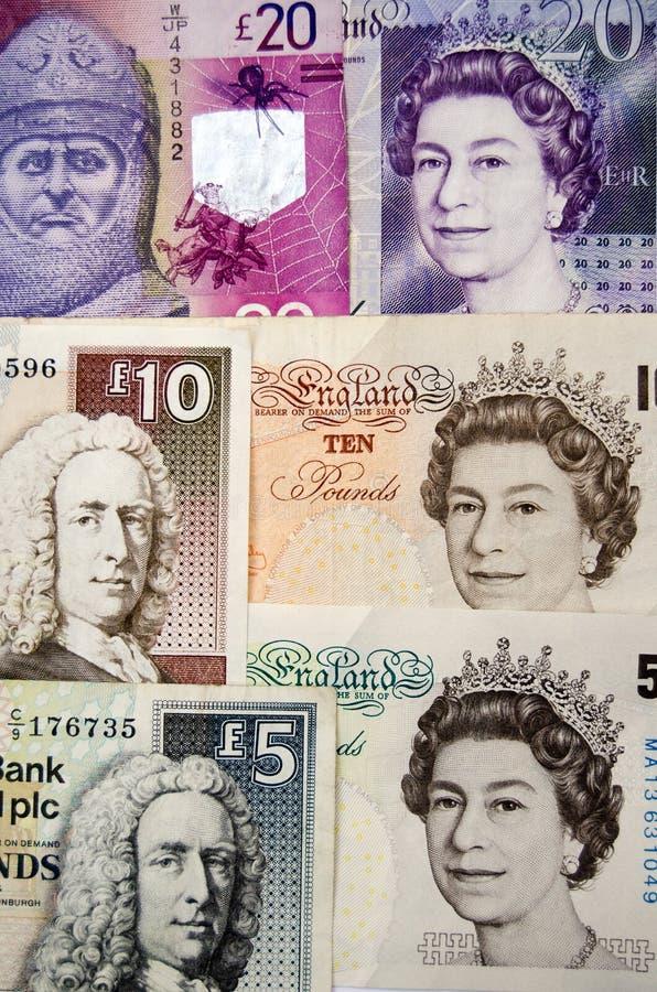 Bank van Engeland en Schots geld royalty-vrije stock afbeelding