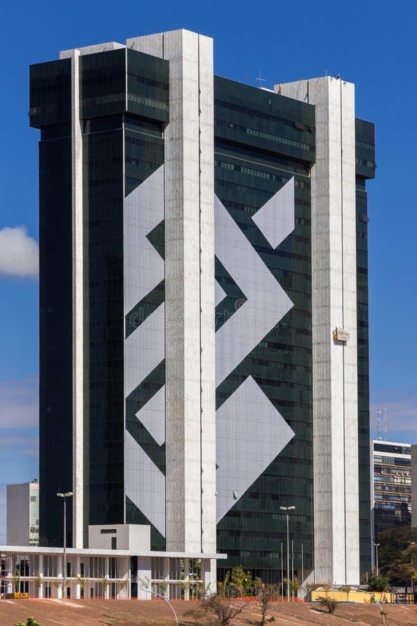Bank van het Hoofdkwartier Brasilia van Brazilië stock foto's
