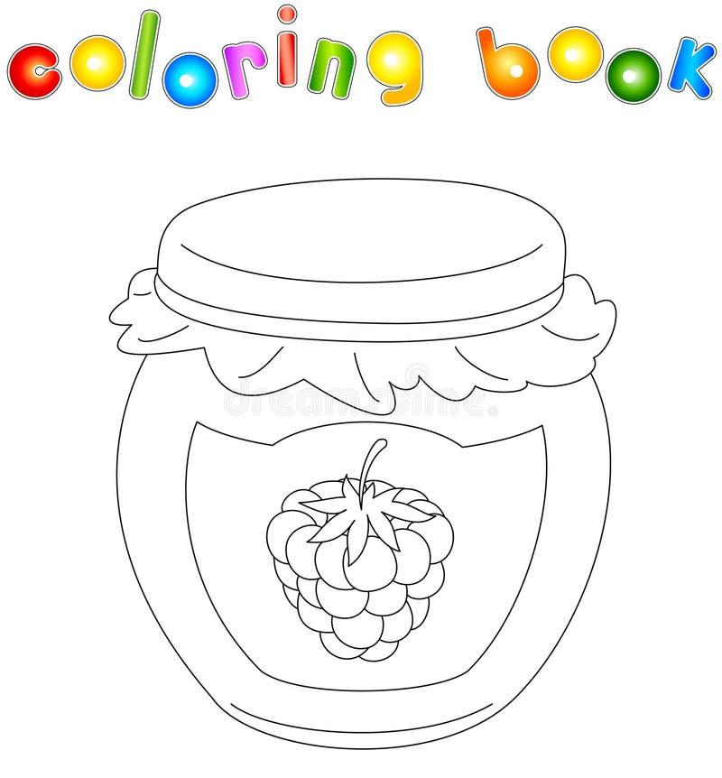 Bank van het kleurende boek van de frambozenjam vector illustratie