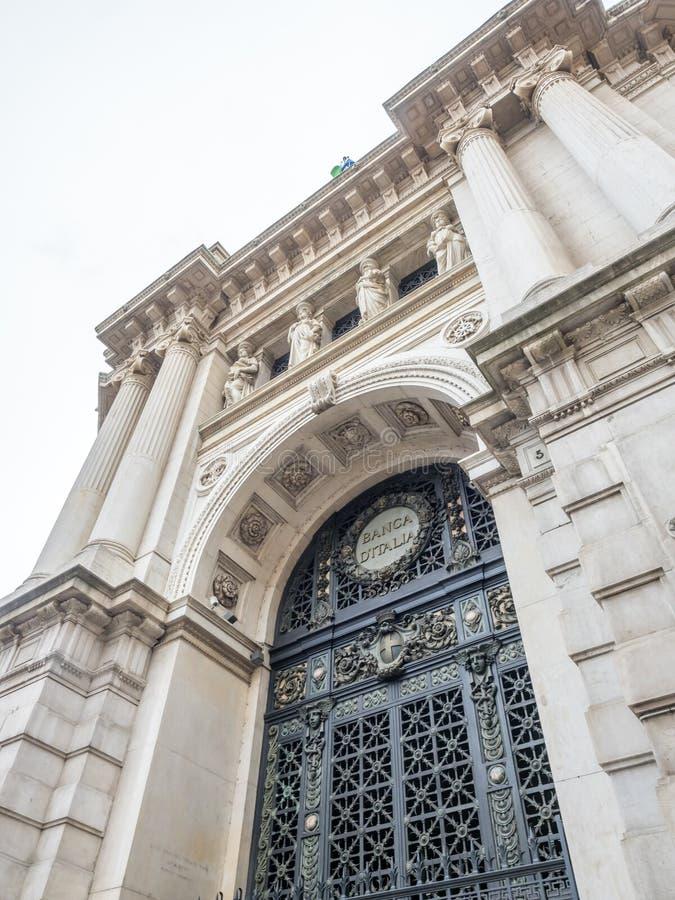 Bank van Italië in Milaan royalty-vrije stock fotografie