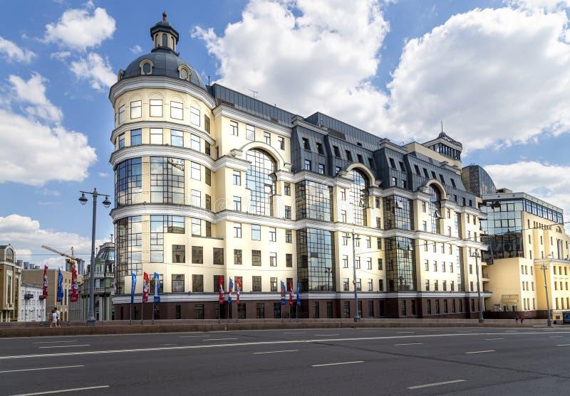 Bank van Rusland die op Balchug-straat voortbouwen Moskou, Rusland royalty-vrije stock foto