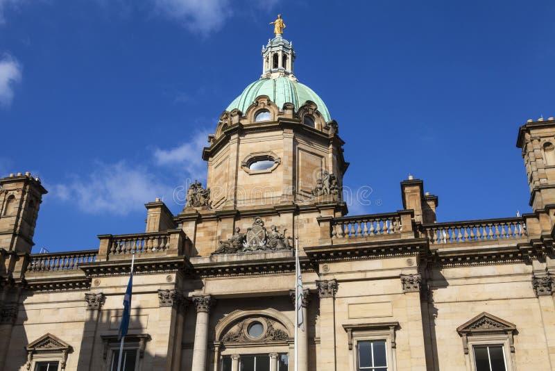 Bank van Schotland in Edinburgh stock afbeelding
