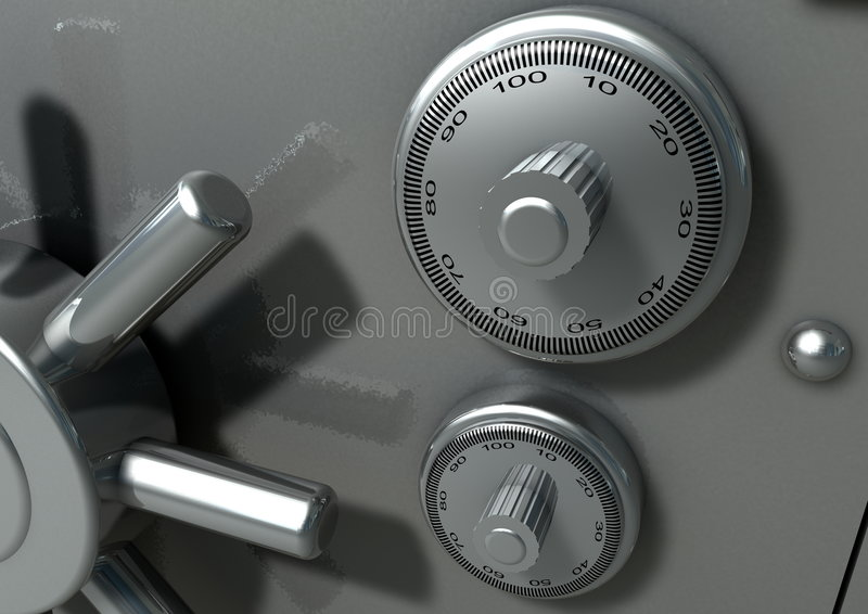 Bank Vault stock illustration