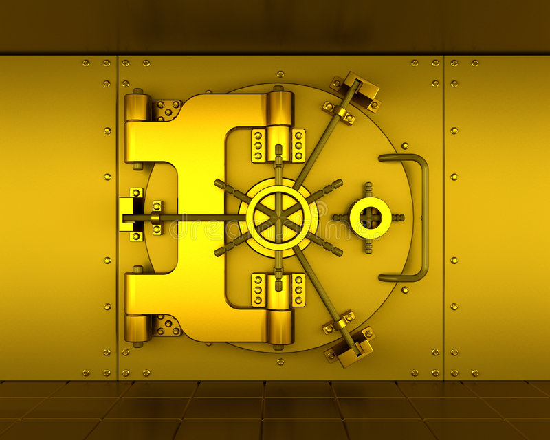 Bank vault royalty free illustration