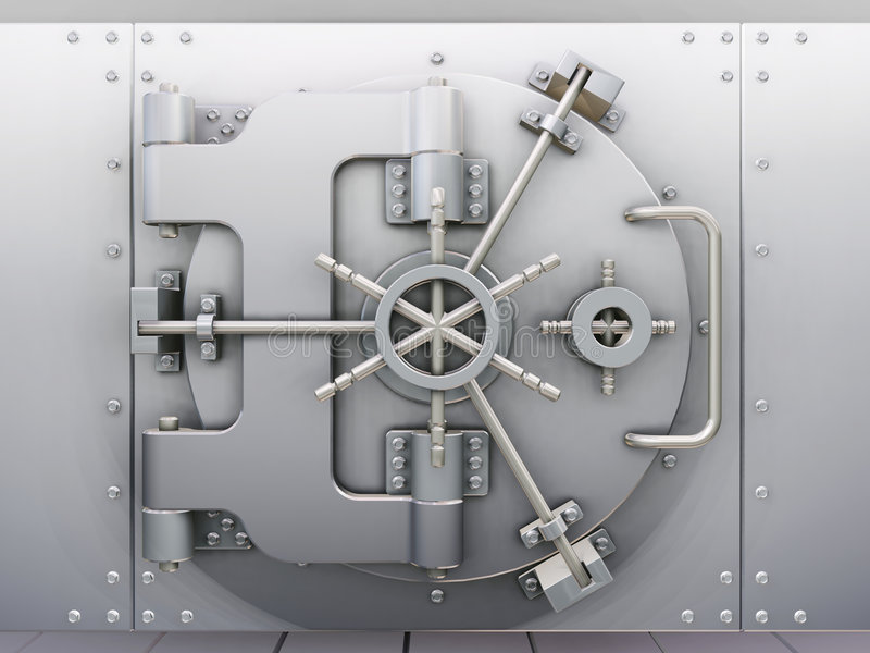 Bank vault vector illustration