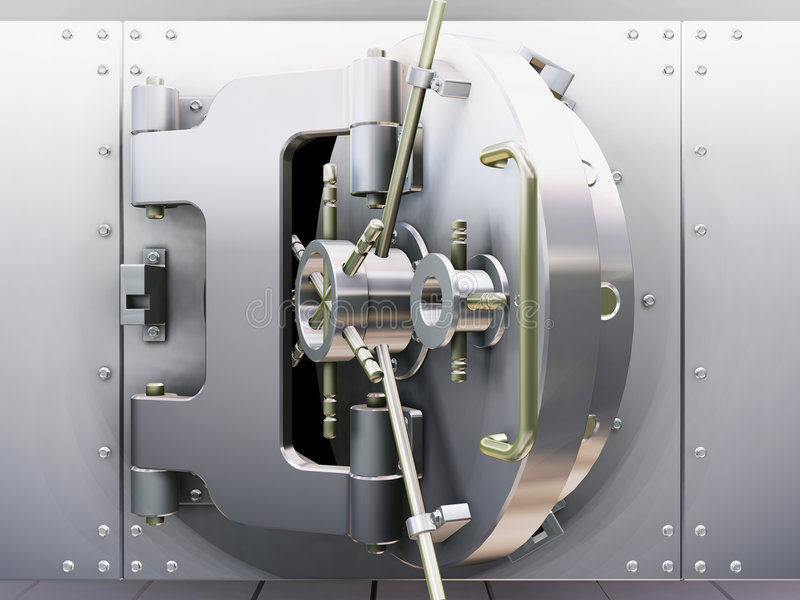 Bank vault stock illustration