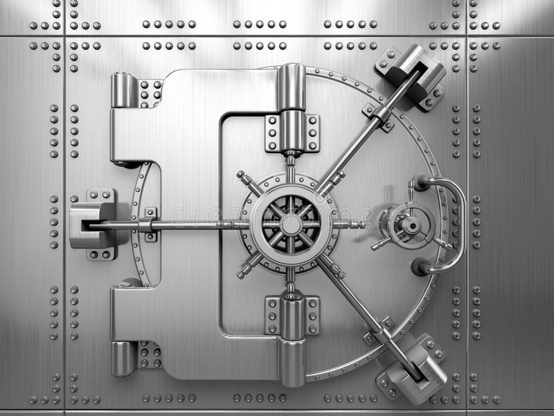 Bank Vault Door royalty free illustration
