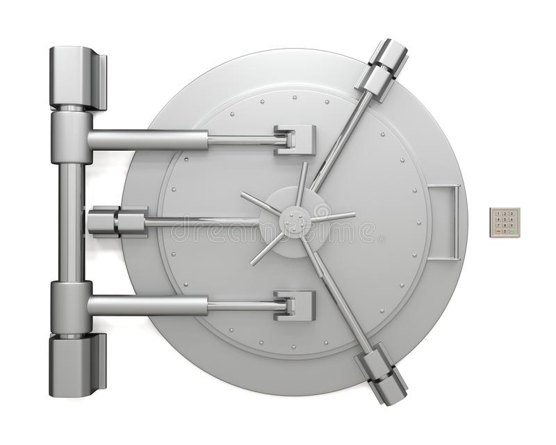 Bank vault door vector illustration