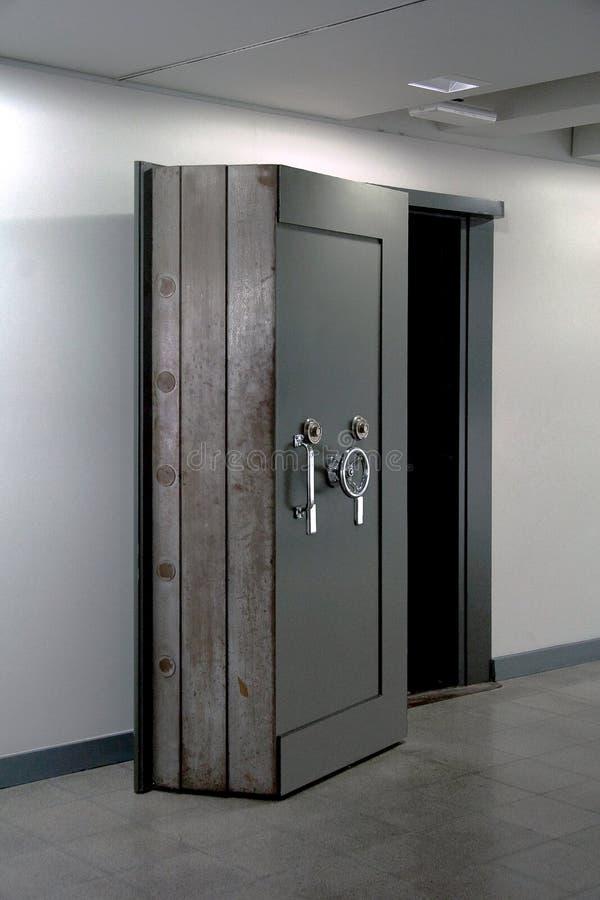 Bank Vault Door. Safe in stainless steel. Object stock photos