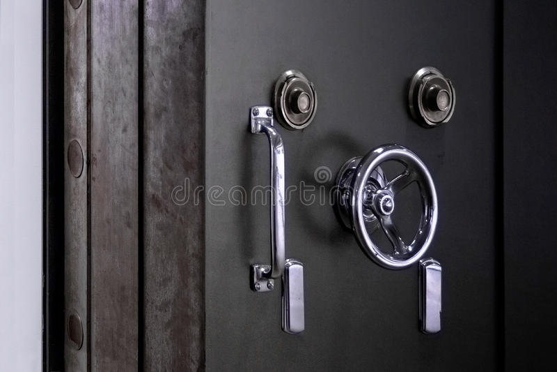 Bank Vault Door. Safe in stainless steel. Object stock images