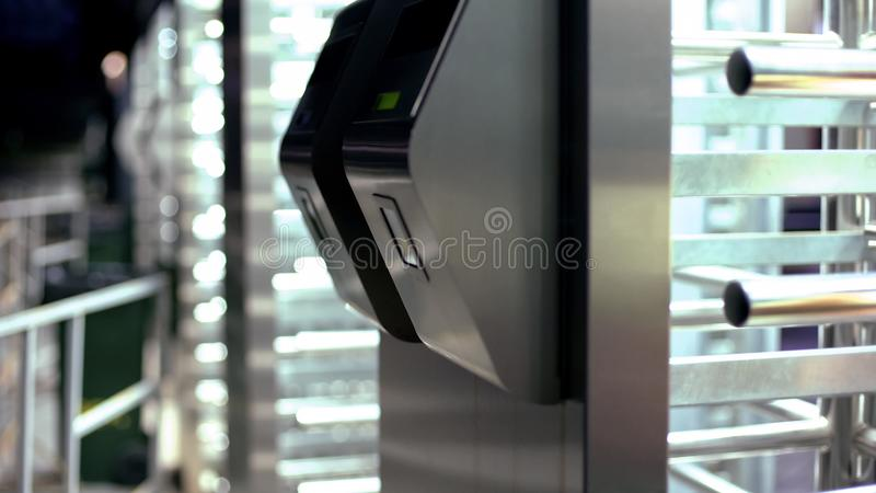 Bank vault entrance with multi-level access, modern technologies, close up. Stock photo royalty free stock photography