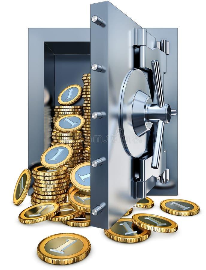 Download Bank vault stock illustration. Image of credit, flow - 32935280