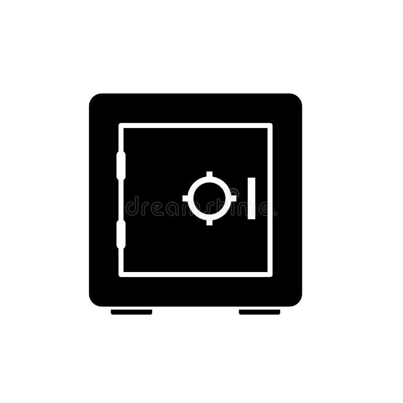 Bank vault locker silhouette icon stock illustration