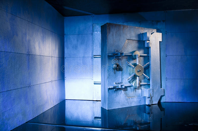 Bank Vault photo with copy space stock images