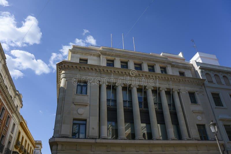 Bank w Sevilla obrazy royalty free