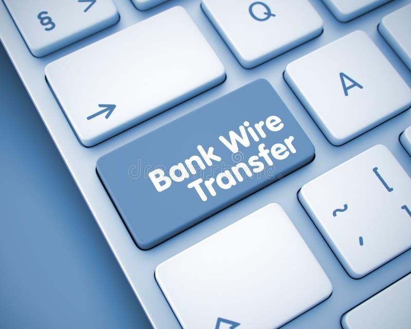 Bank Wire Transfer - Message On Keyboard Keypad. 3D. Stock ...
