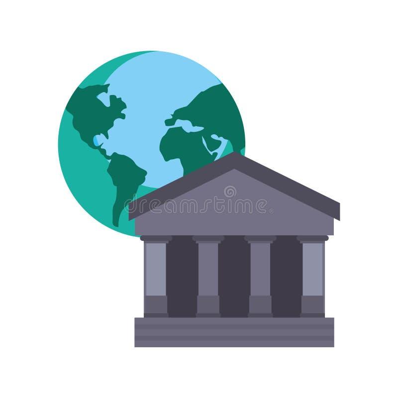 Bank world trade. On white background vector illustration vector illustration