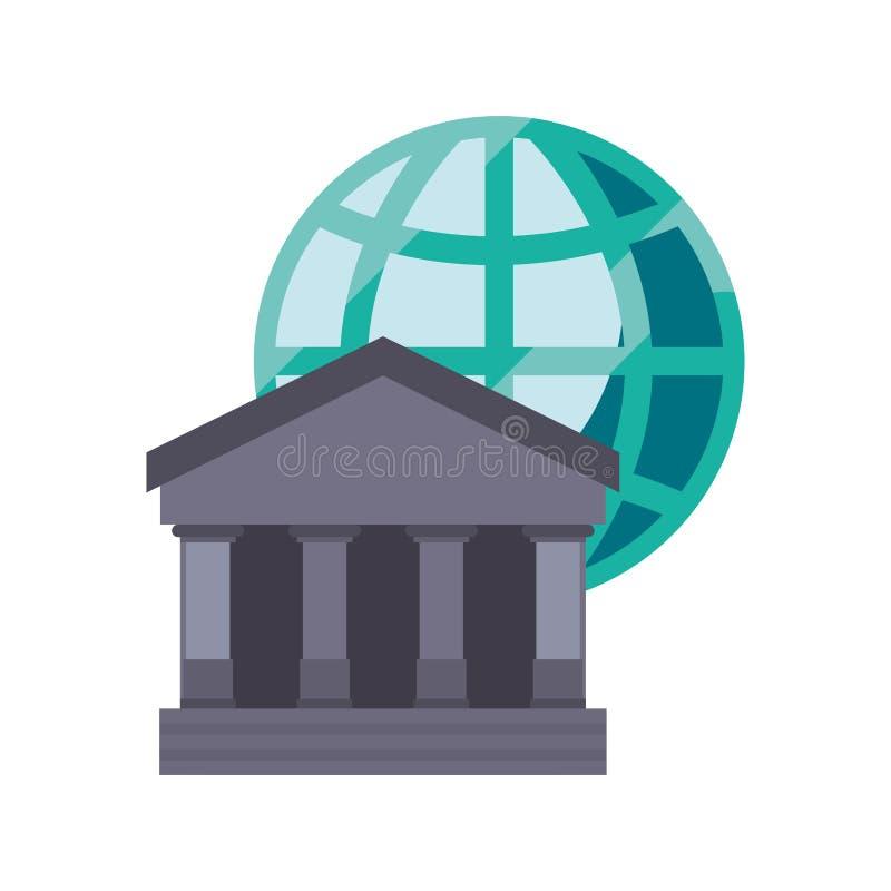 Bank world trade. On white background vector illustration stock illustration